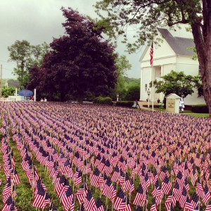Field of Flags installed at Terryville Congregational Church June 28-July 19, 2013